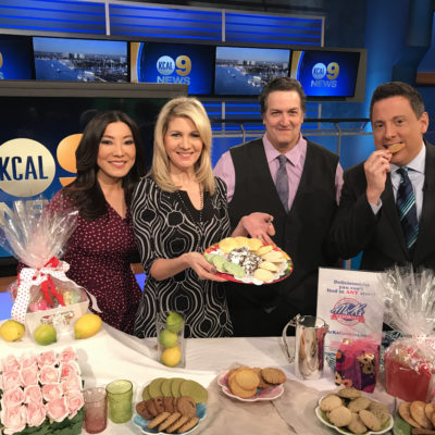 Me with the KCAL 9 news team